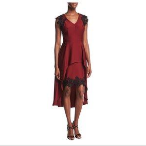 Shoshanna Peplum High/Low Dress